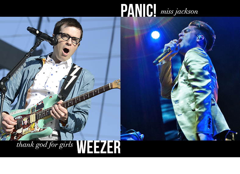 Weezer - Thank God for Girls / Panic! at the Disco - Miss Jackson
