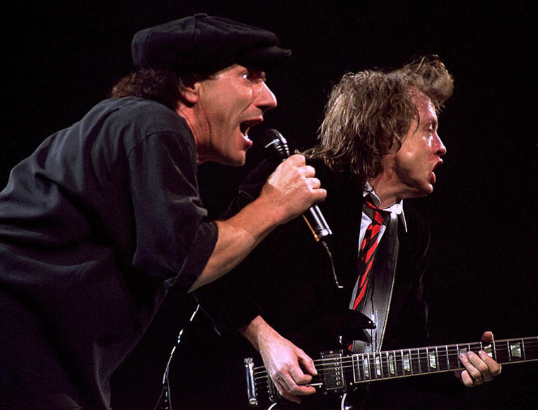 Brian Johnson and Angus Young, 1996