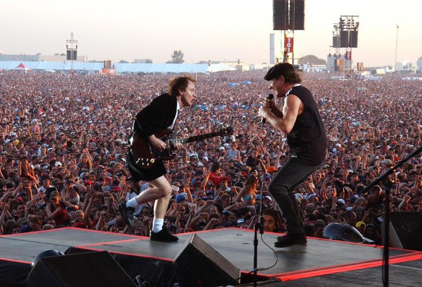 Angus Young and Brian Johnson, 2003
