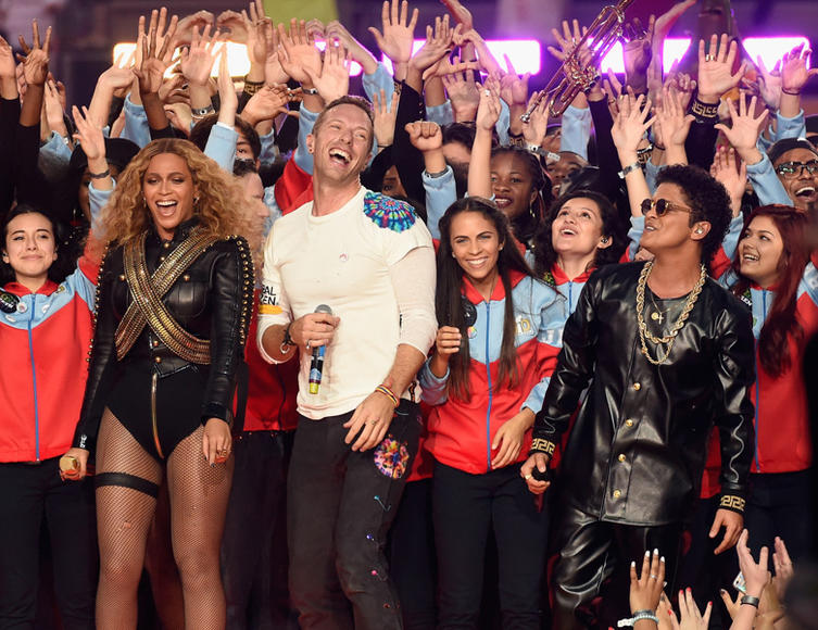 Beyoncé, Coldplay, Bruno Mars