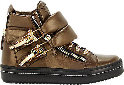 RUNNIN': Giuseppe Zanotti Puffy strap double zip sneakers