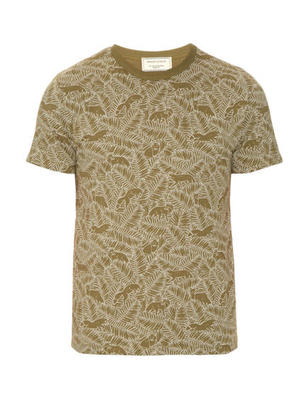UNDERGROUND: Fox print cotton t-shirt