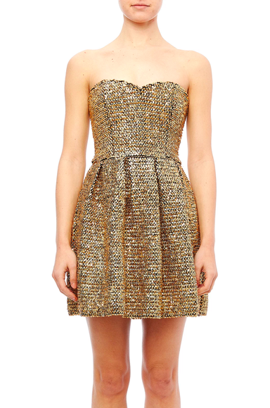 Ark & Co Strapless Sequin Dress