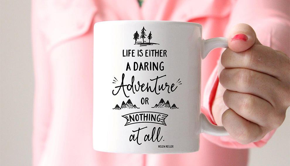 FoxyMug Adventure Motivational Quote Mug
