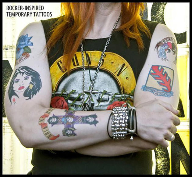 Axl Rose Inspired Temporary Tattoos