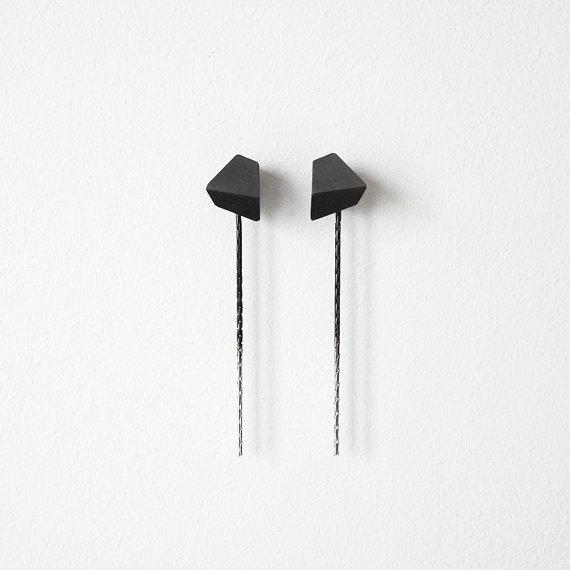 Stud Chain Earrings