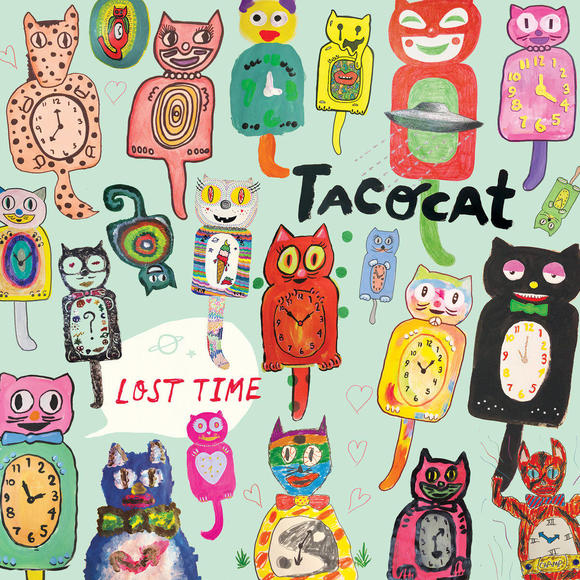 All four band members contributed to the 'Lost Time' cover art by drawing a few cats each