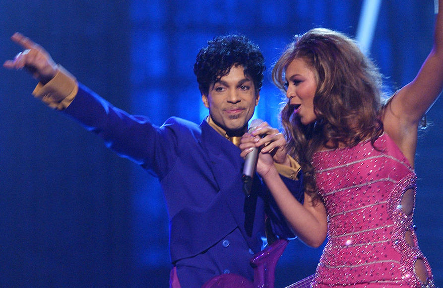 Prince performs with Beyonce at The 46th Annual Grammy Awards - 2004