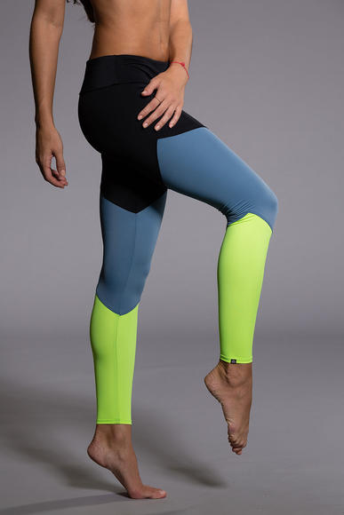 OUTSIDE: Track Legging - Black/Jean/Lemon Lime
