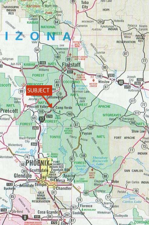 130.83 acres of Recreational Land / Undeveloped Land for sale. Camp Verde, AZ