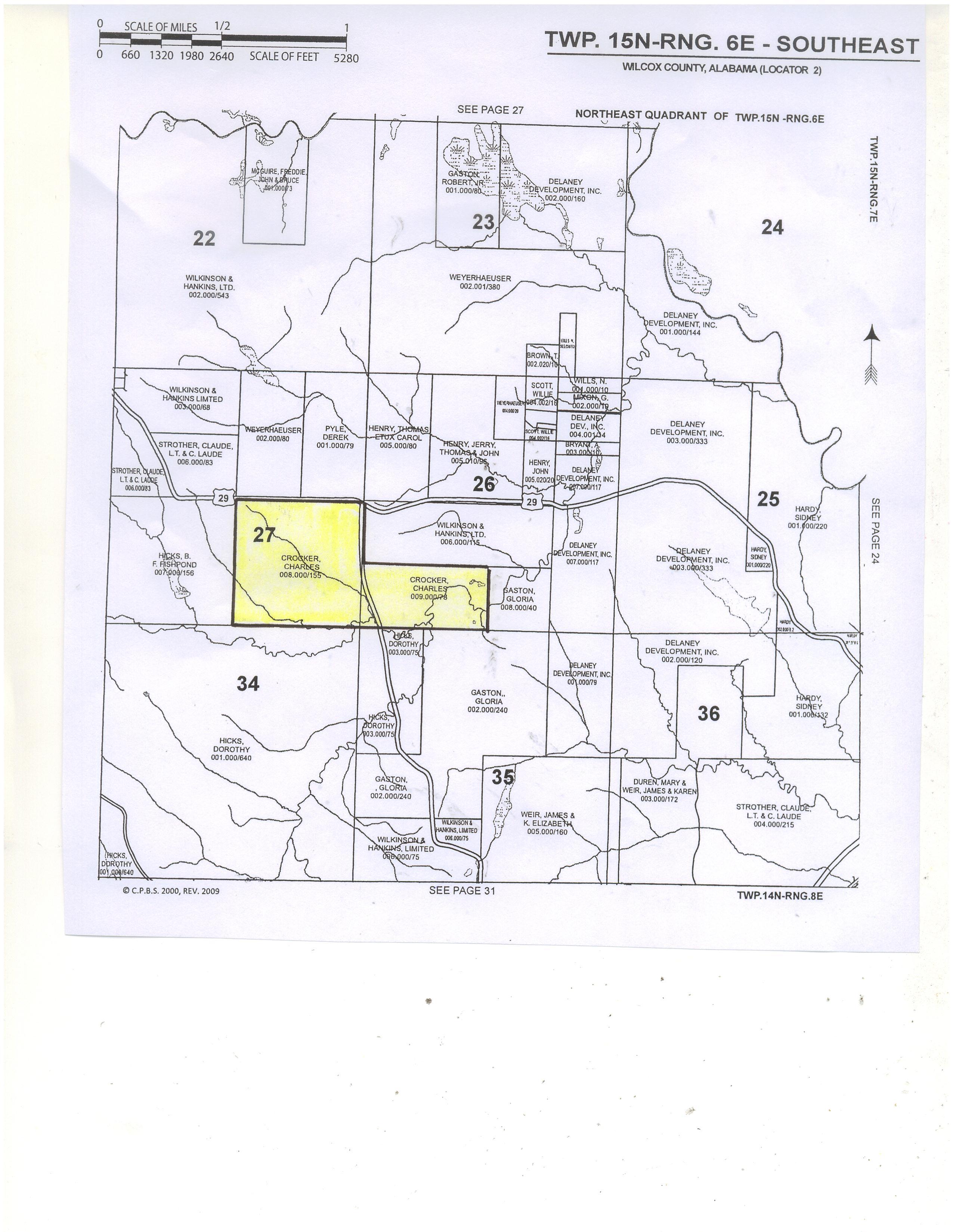Alabama wilcox county catherine - Plat Map