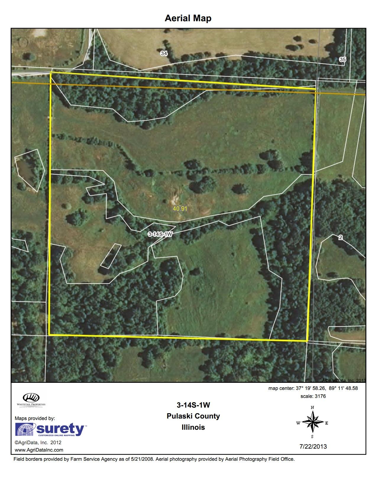 Illinois pulaski county mounds - Fsa Aerial Map Pulaski 120 Tra
