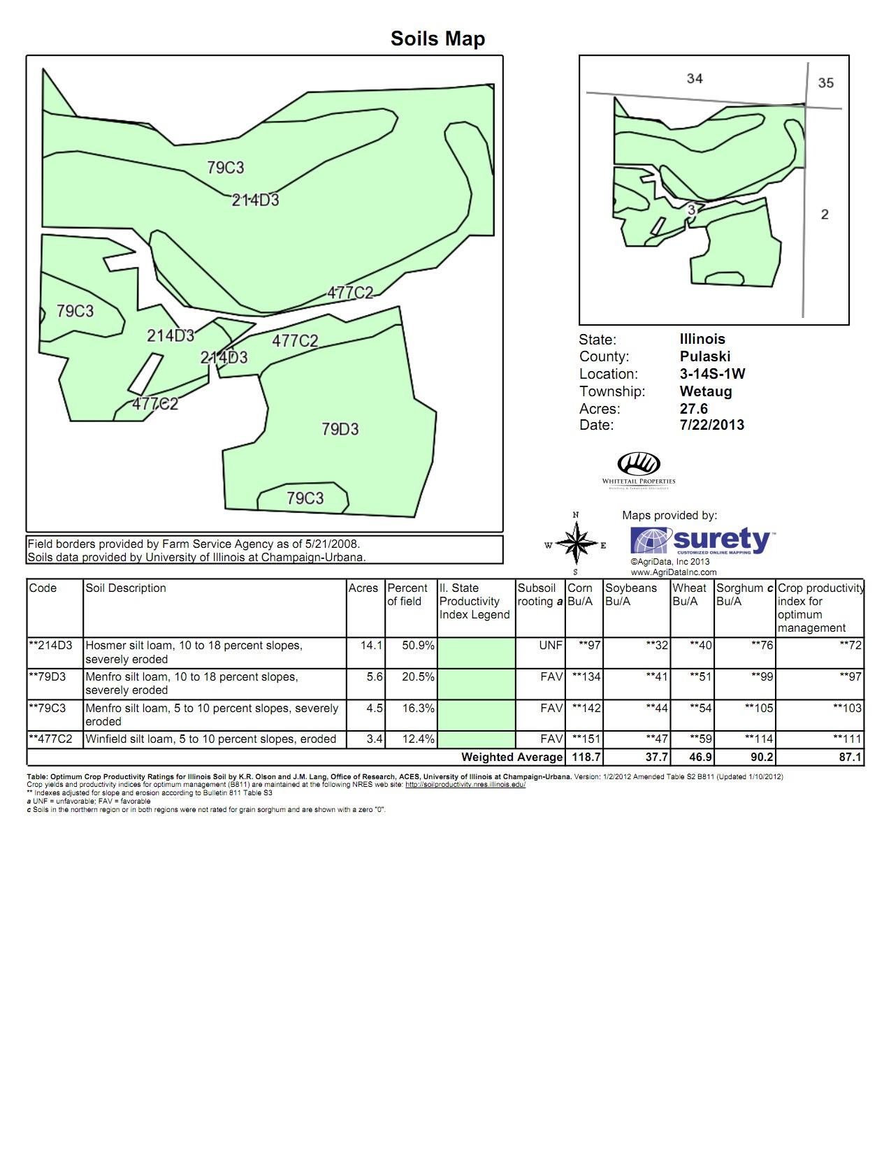 Illinois pulaski county mounds - Soils Map Pulaski 120 Tract 2