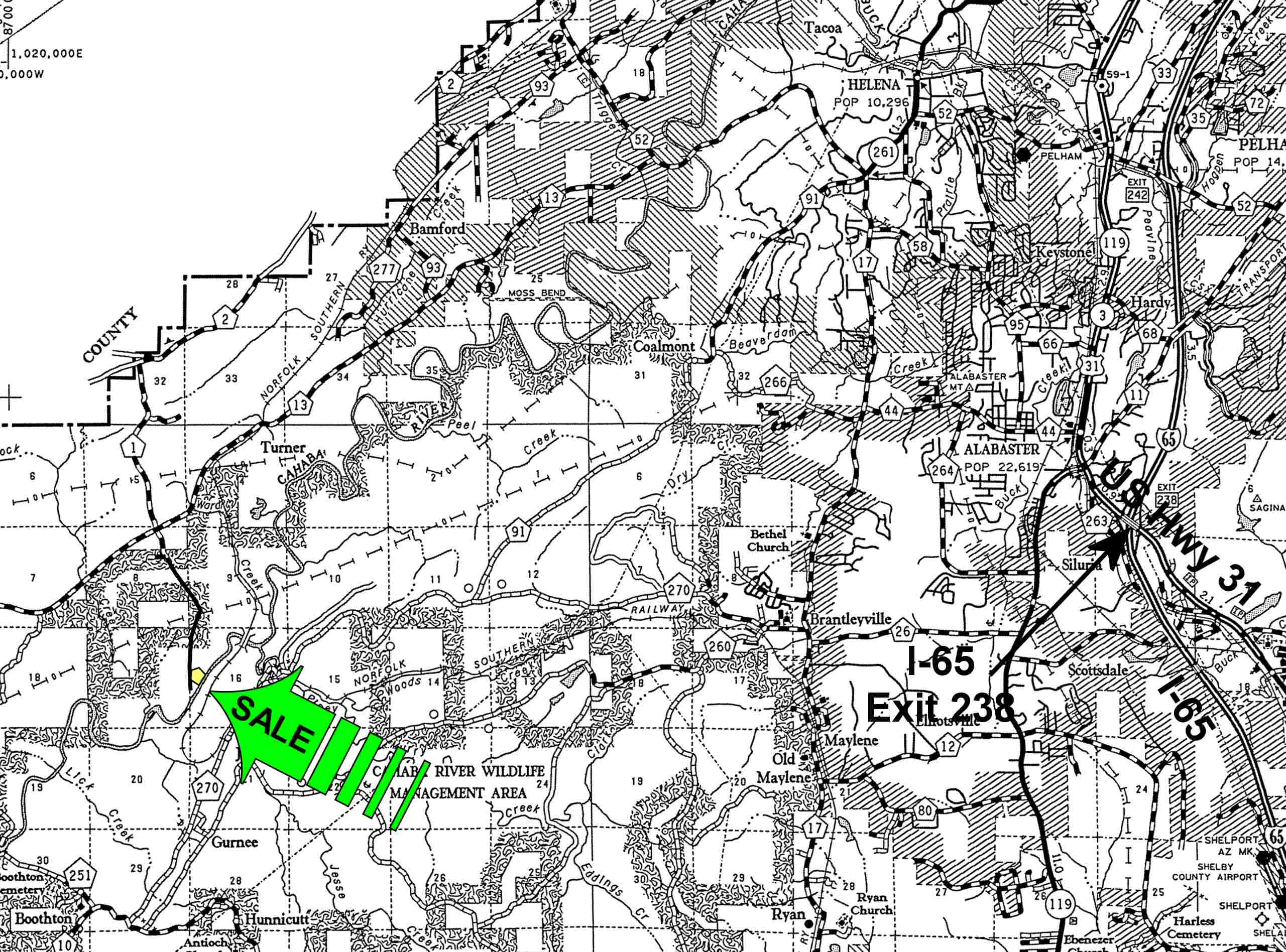 20 Acres In Shelby County Alabama