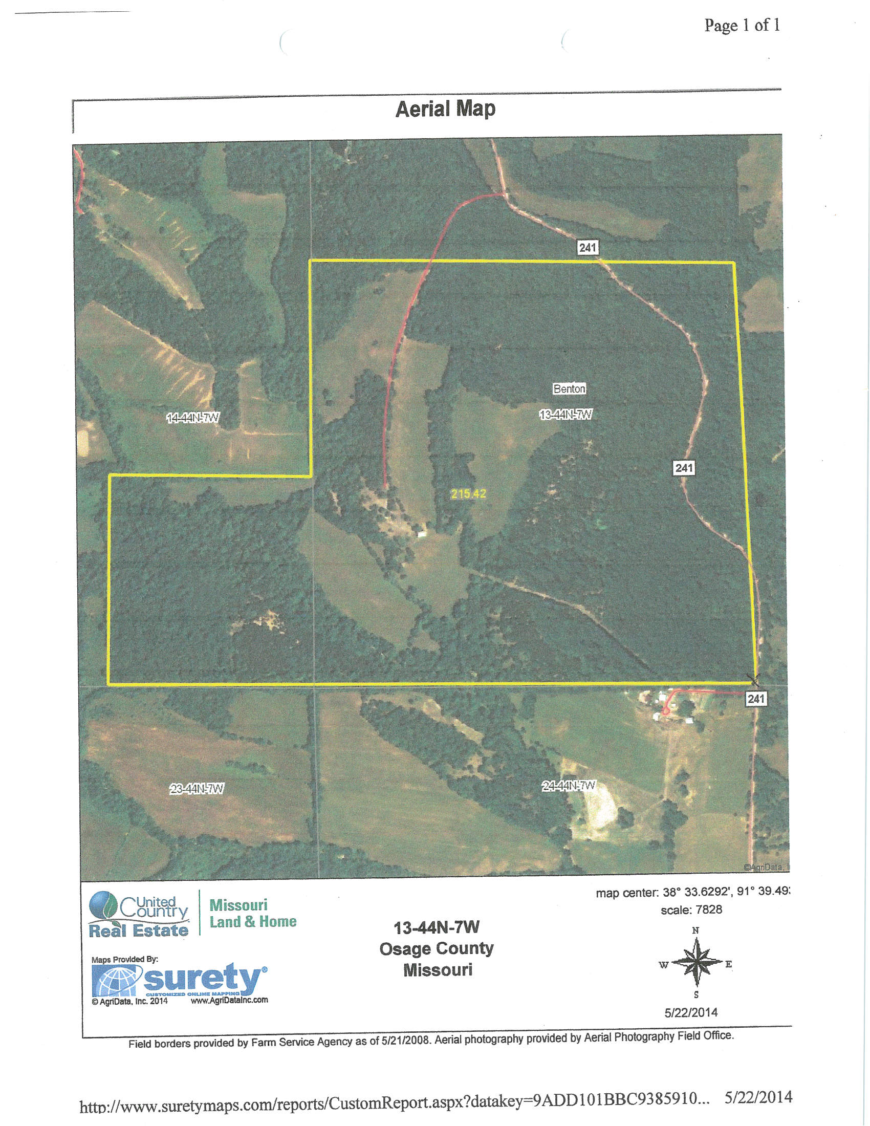 215 Acres in Osage County, Missouri