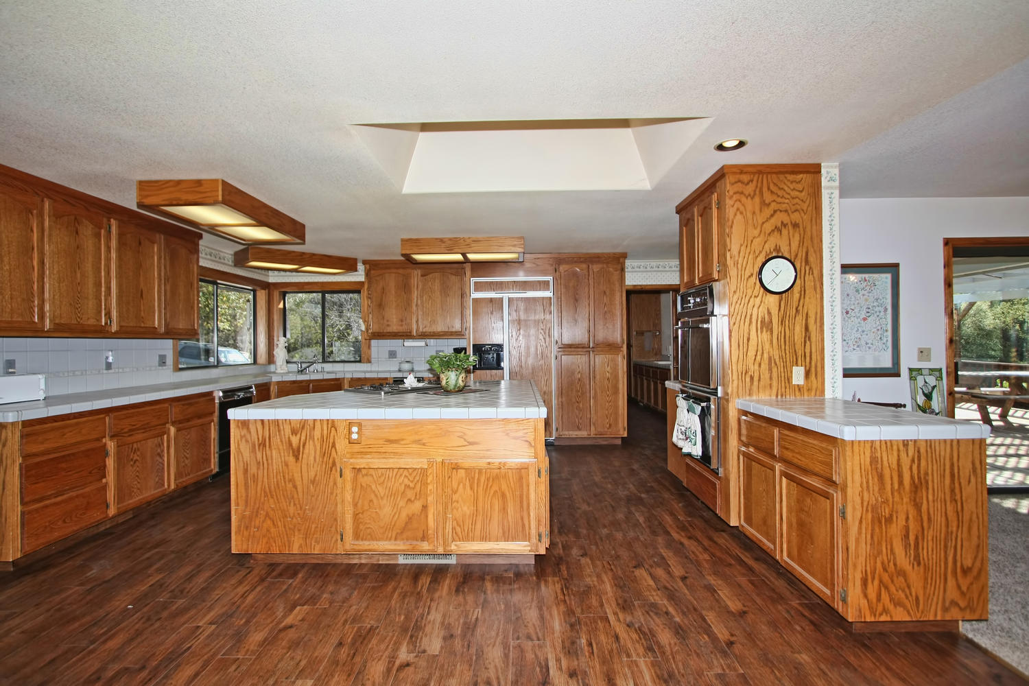 End of road privacy for American kitchen cabinets placerville