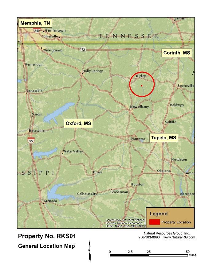 Ripley County Property Map