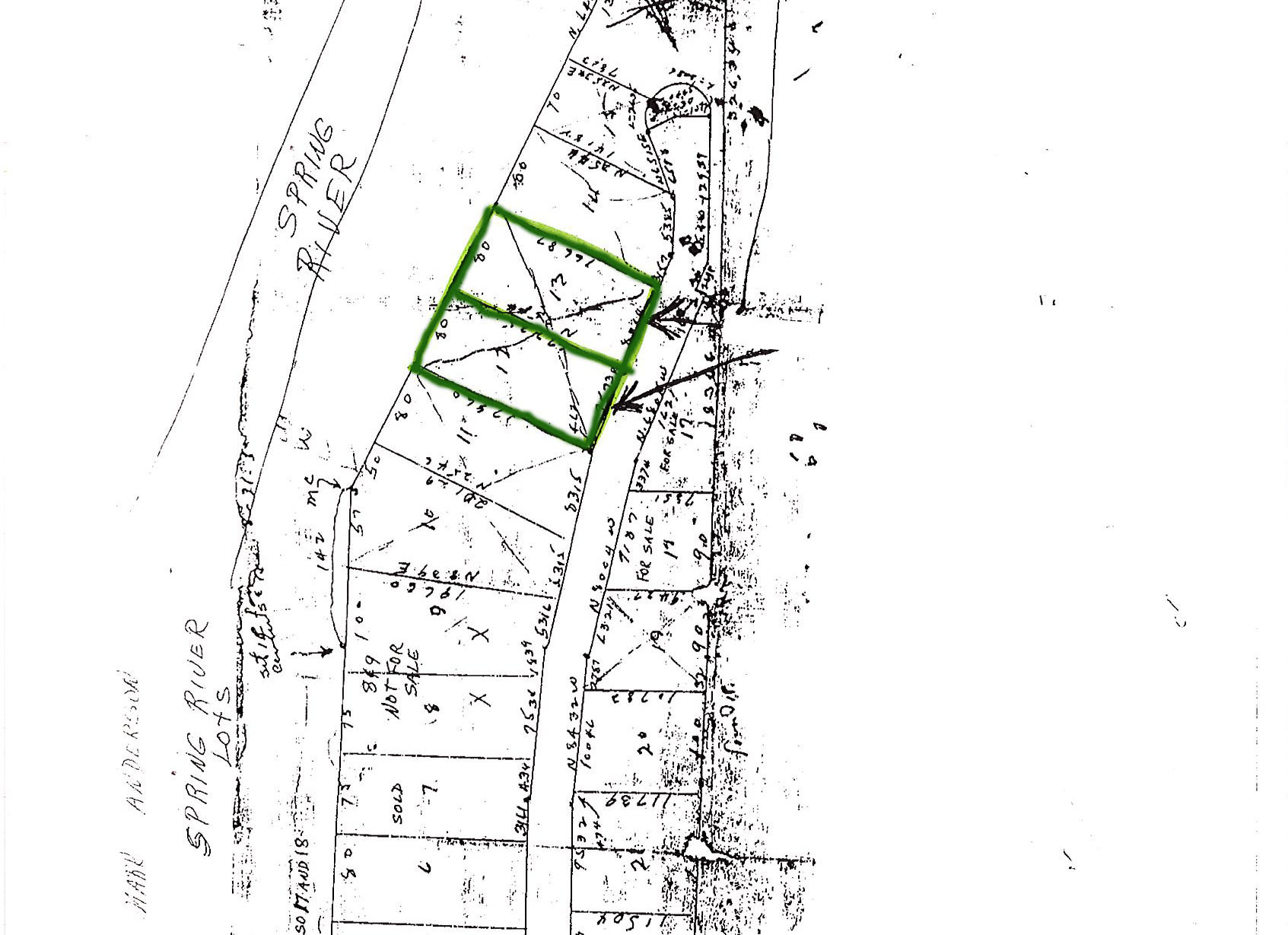 C1553-Plat.jpg - 0.62 acres of Recreational Land / Residential Land / Undeveloped Land for sale. River Heights, Mammoth Spring, AR