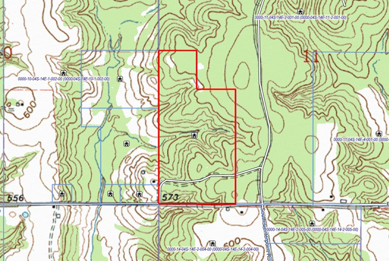 Topo.jpg - 70 acres of Hunting Land / Recreational Land / Residential Land for sale. Antlers, OK