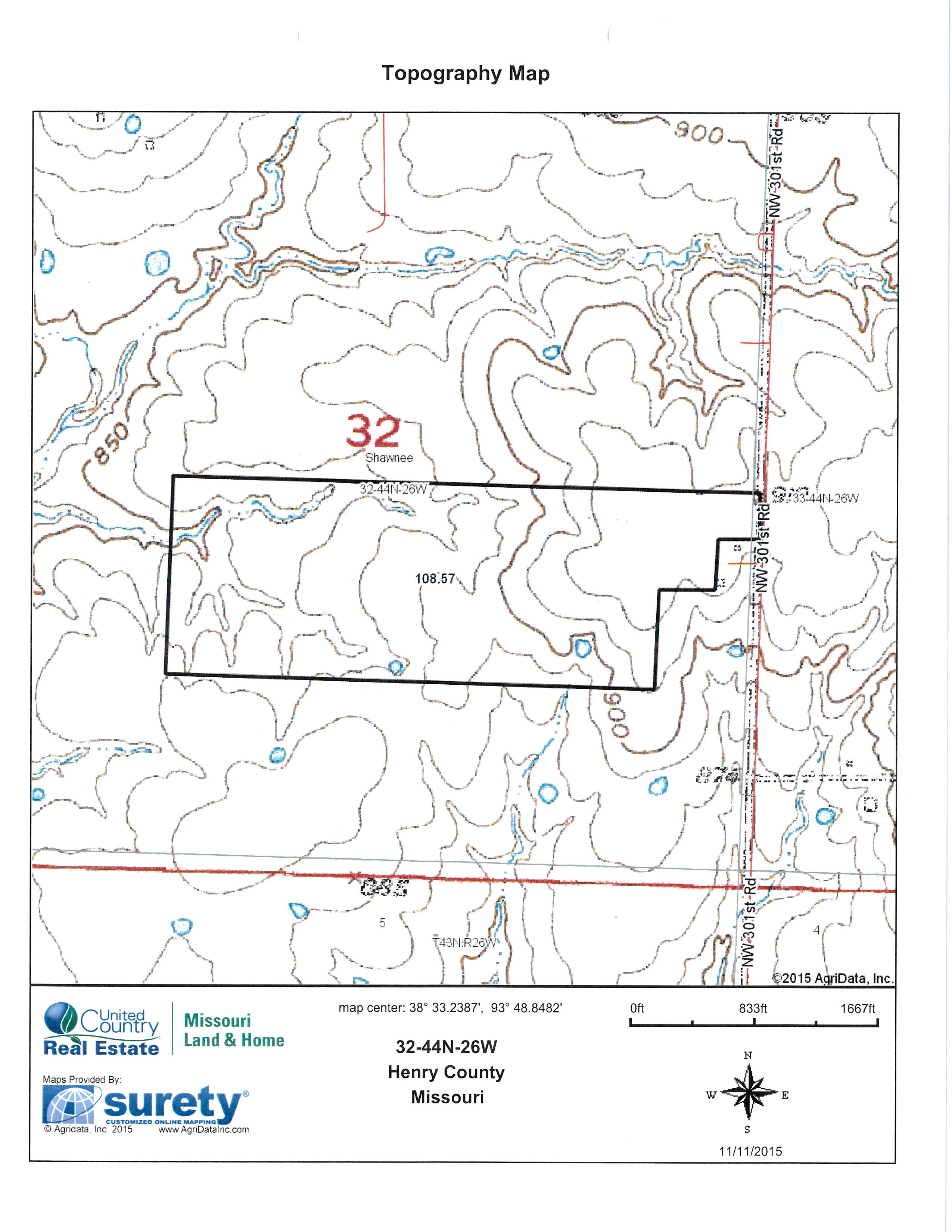 topo.jpg - 109 acres of Farm for sale. NW 301 Rd, Chilhowee, MO