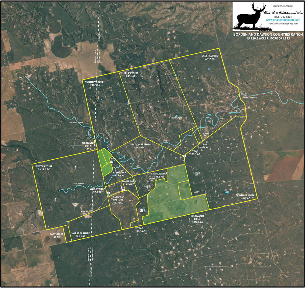 Cheap Cattle Ranches For Sale >> 15920.5 acres in Borden County, Texas
