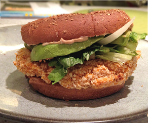 Sweet-Potato Veggie Burger Image
