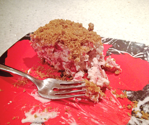 Frozen Strawberry Crunch Cake  Image