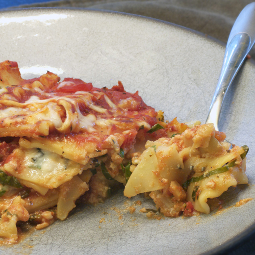Random Vegetable Lasagna (Squash and Chard) Image