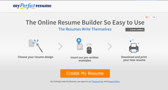 if slow and antiquated is what your looking for my perfect resume is the one for you their website appears to be made in the 90s and is painfully slow - Livecareer My Perfect Resume