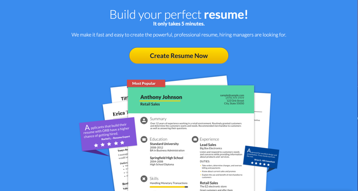 in recent review we found online resume builder as the top resume builder on the web to date the rate of hired people has grown significantly with also - Top Resume Builders