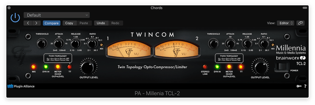 The Twincom with Mid/Side applied