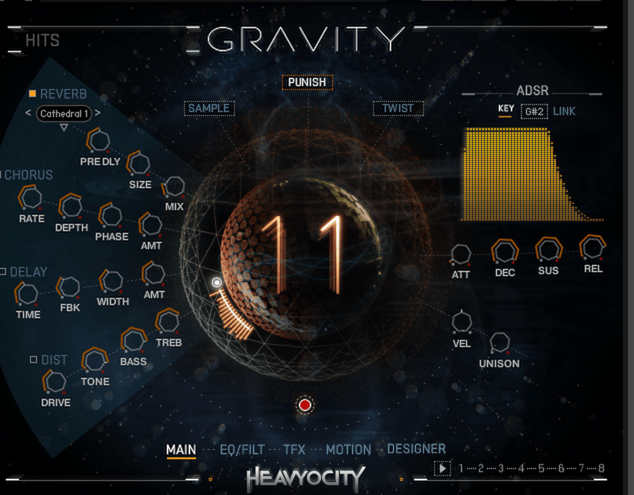 Gravity's Main Interface