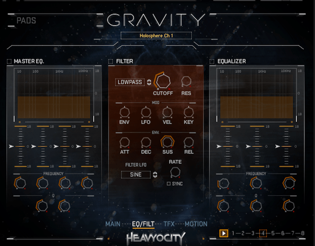 Gravity EQ and Filter