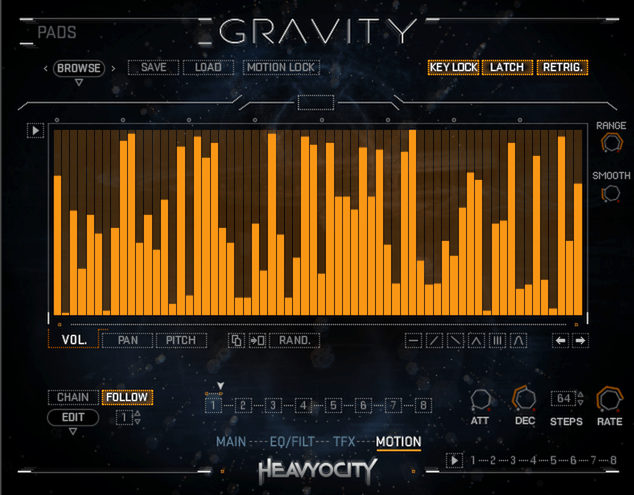 Gravity Motion Menu
