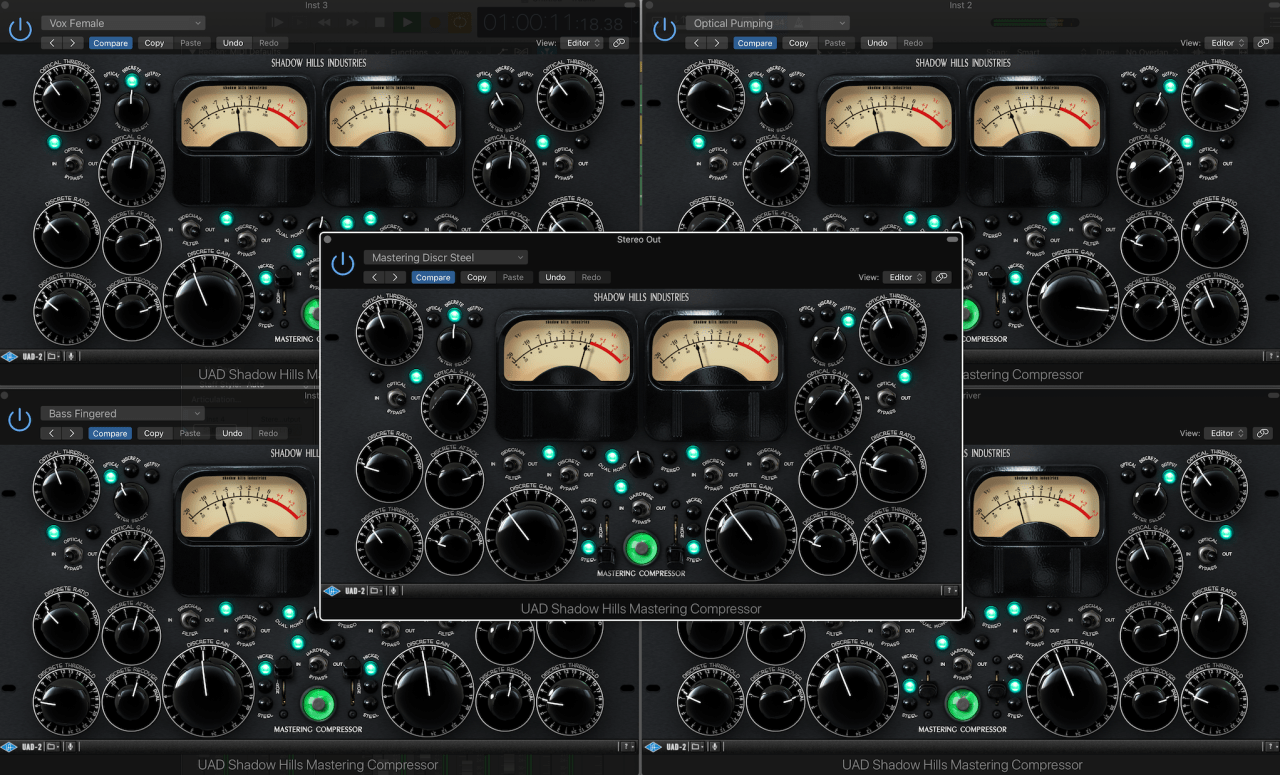Five instances running with presets only hit 16% DSP.
