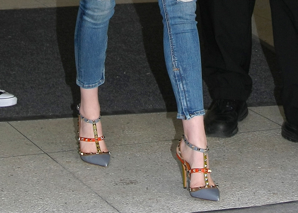 Celebrities Wearing Prada Pump Shoes