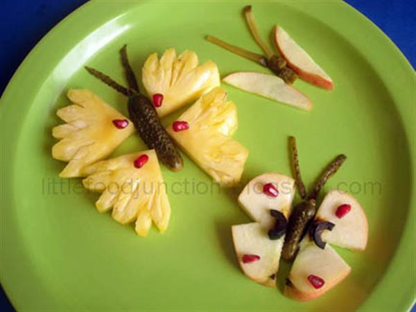 Как сделать бабочку из овощей и фруктов