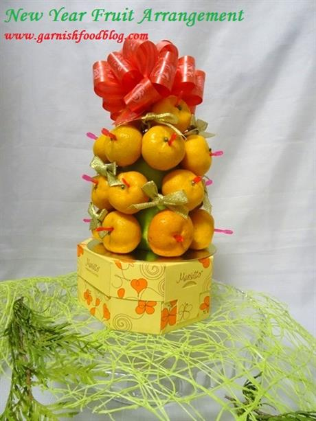 New Year Tree With Mandarines