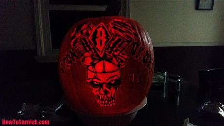 Iron Order Motorcycle club Pumpkin Carving