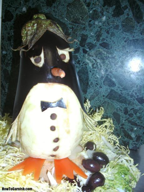 Eggplant pinguin