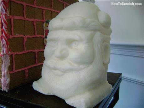 Santa Tallow Carving