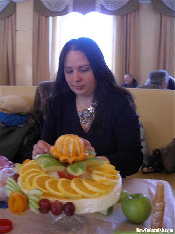 Fruit Cake with apples and oranges