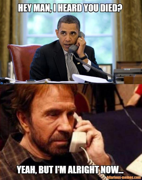 Obama calling Chuck