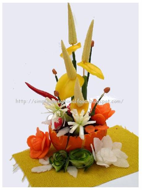 Vegetable Flower Arrangement