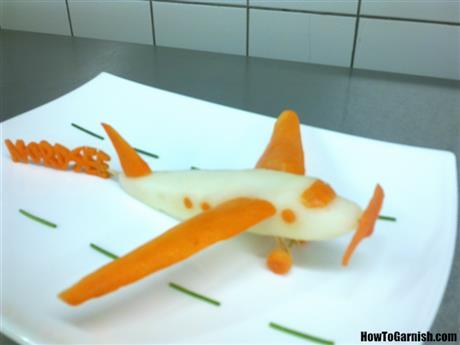 Radish and carrot airplane
