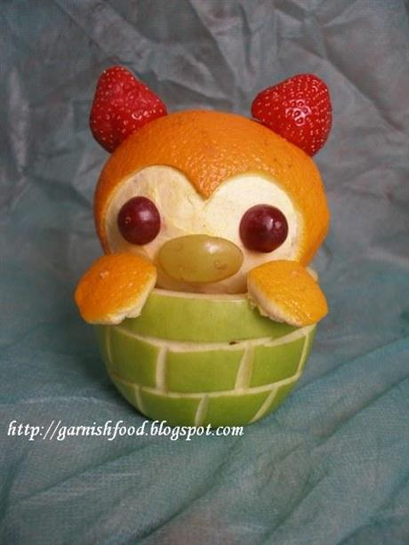 Kawaii Fruit #1 - Baby Bear