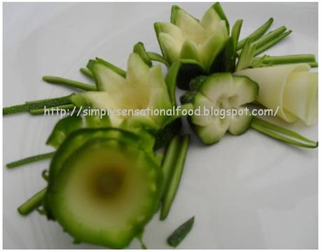 Zuccini Flower Garnishes