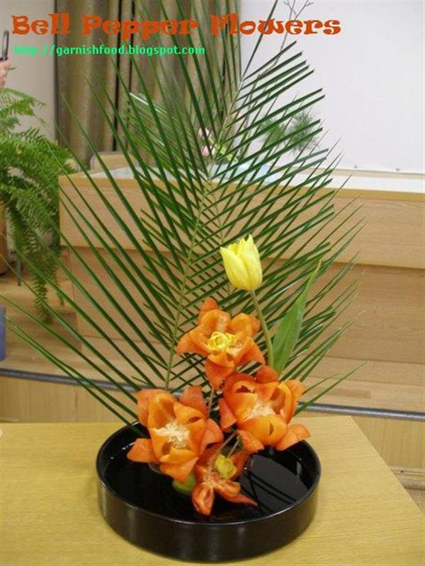 Vegetable Carving Ikebana