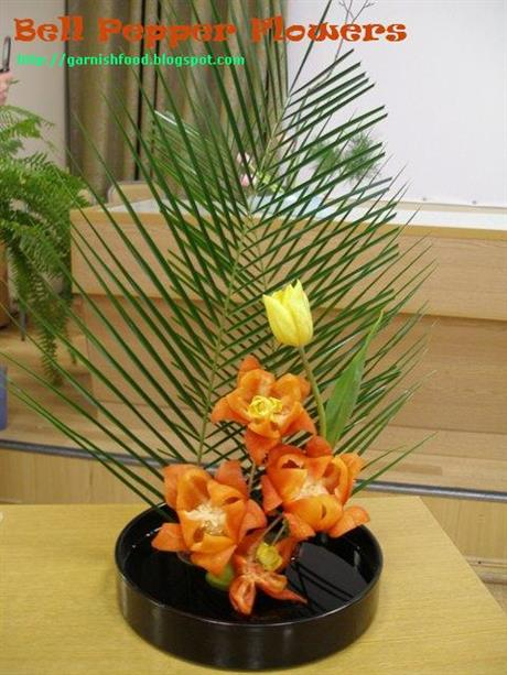 Vegetable Carving Ikebana
