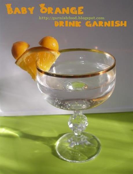 Baby Orange drink garnish